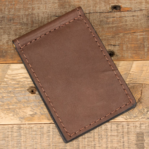 Kangaroo Leather Skinny Clip Wallet
