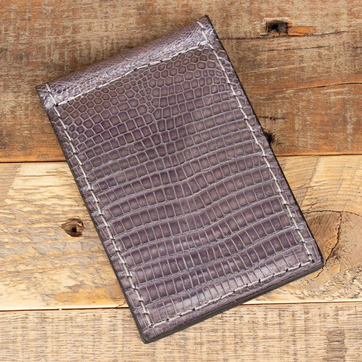 Lizard Gray Thin Wallet