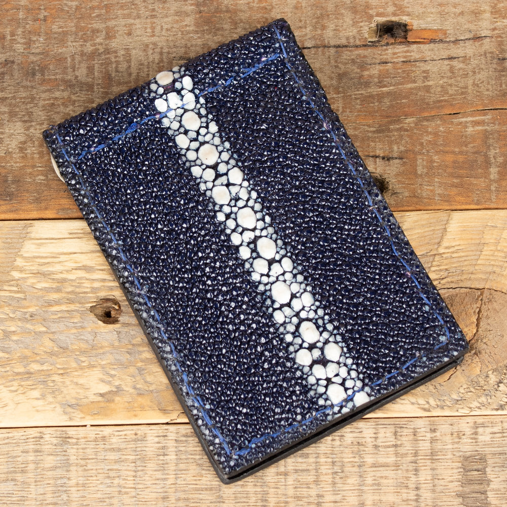 Navy Blue Stingray Thin Wallet