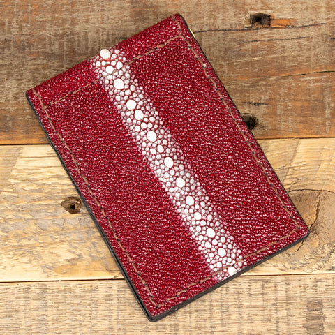 Red Stingray Thin Wallet