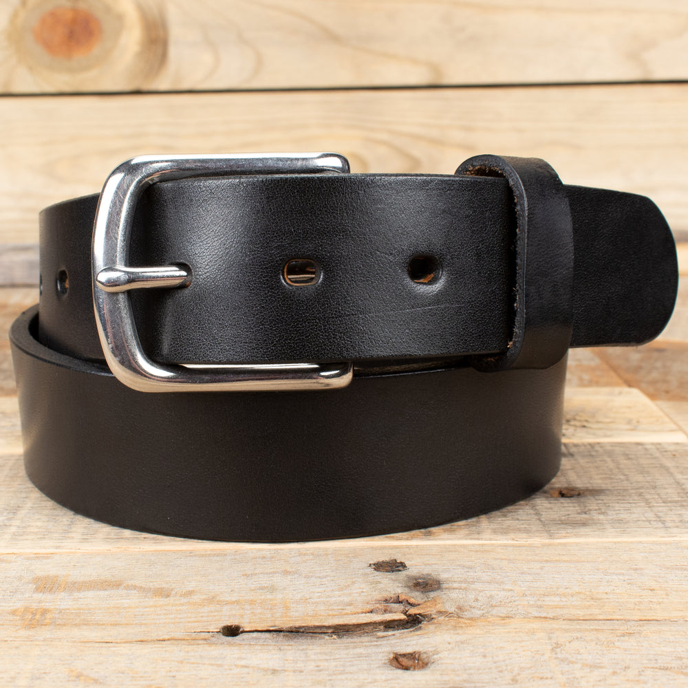 Smooth Black Bridle Belt