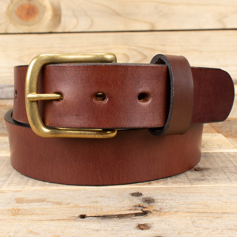 Brown Smooth Leather Belt