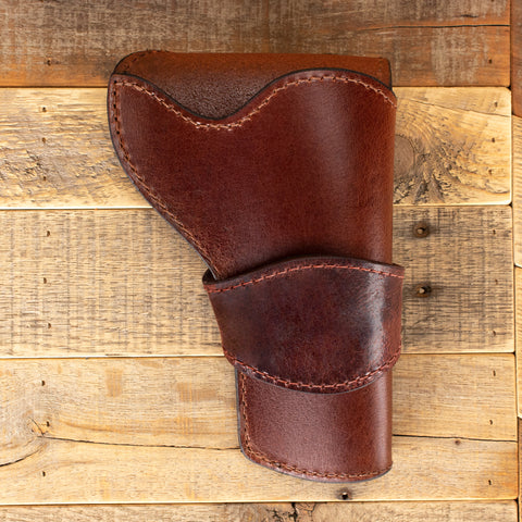 Brown Water Buffalo Revolver Holster