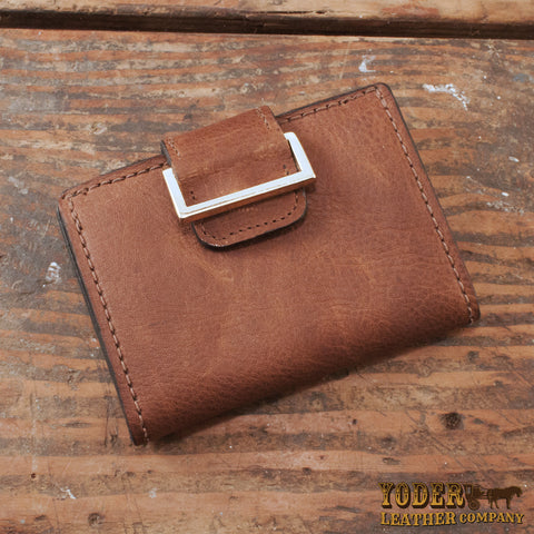 Brown Cowhide Leather Women's Wallet