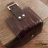 Women's Brown Eel Skin Wallet