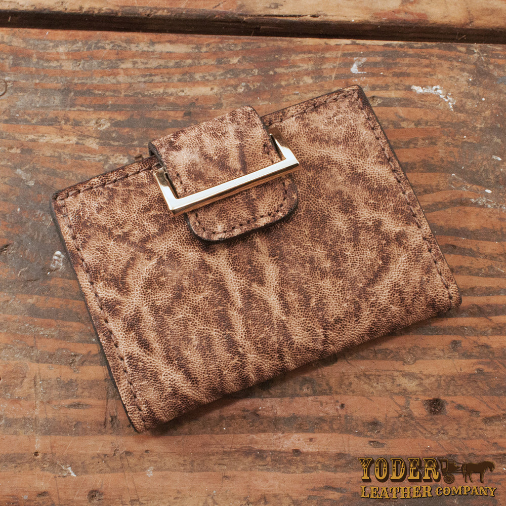 Women s Rustic Brown Elephant Leather Wallet – Yoder Leather Company 307938230