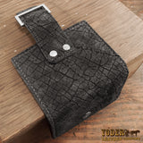 Women's Black Leather Hippo Wallet