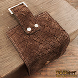 Women's Brown Leather Hippo Bifold