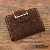 Brown Hippo Leather Women's Wallet