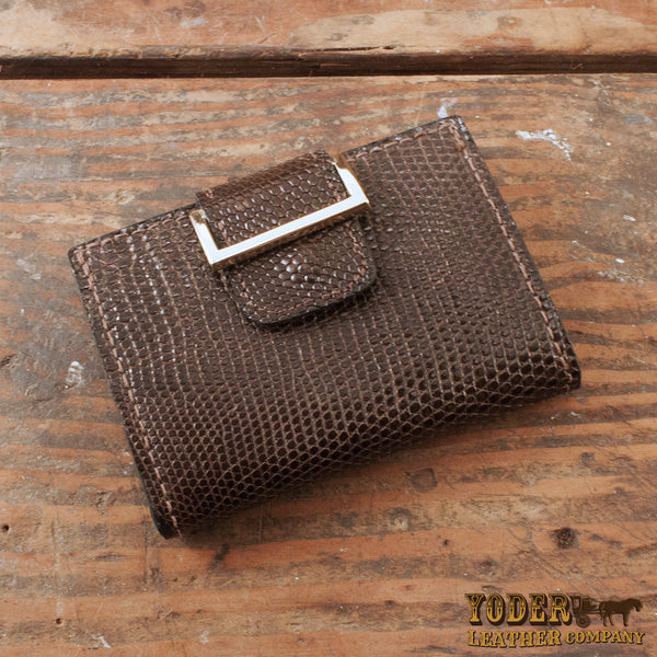Brown Tegu Lizard Women's Wallet