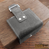 Women's Gray Lizard Bifold Wallet