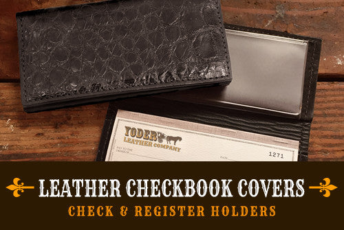Leather Checkbook Holders