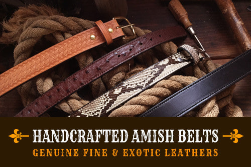 Amish Leather Belts