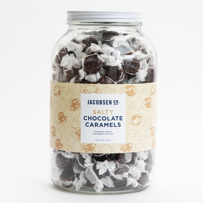 4lb Jar – Salty Chocolate Caramels