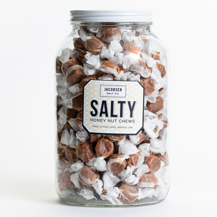 4lb Jar – Salty Honey Nut Chews