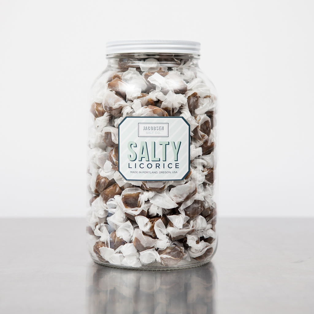 Salty Licorice Caramels – Natural Color