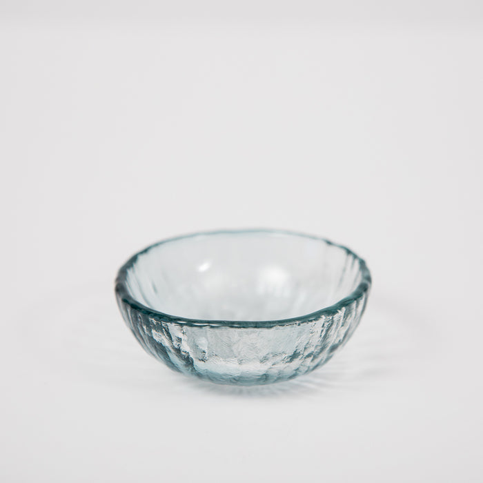 Vitreluxe Glass Salt Cellar – Steel