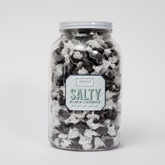 Salty Black Licorice 4lb Jar