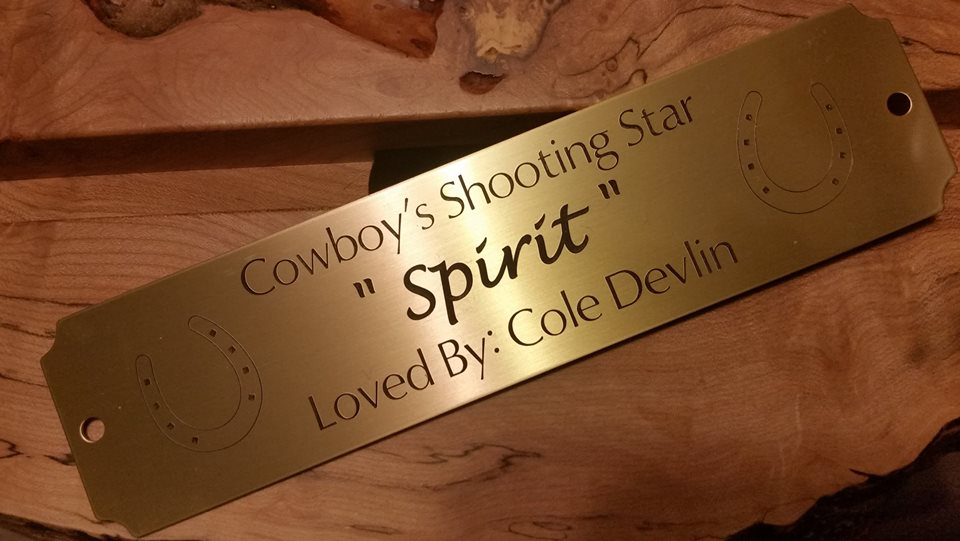 Brass Stall Plate - Custom Engraved