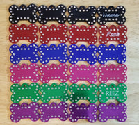 Bargain Bin - Aluminum Bone with Rhinestones - 3 for $13