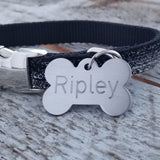 X LARGE Stainless Steel Bone - Deep Engraved