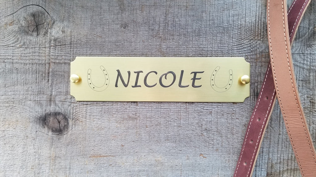 Brass Stall Plate / Custom Engraved