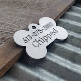 BONE with PAWS - Deep Engraved Stainless Steel