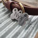 BONE with PAWS / Deep Engraved Stainless Steel