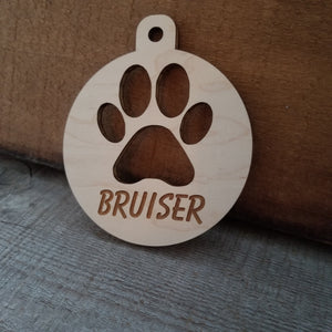 *3 for $18-/Wood Paw Ornament