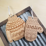 *3 for $18-/Sweater or Mitten Ornament