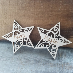*3 for $18-/Wood Star Ornament