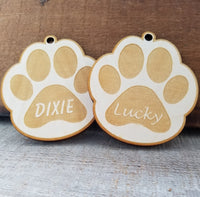 Wood Paw Shape Ornament