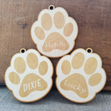 Wood Paw Shape Ornament/*1 for $10/2 for $16/3 for $20-