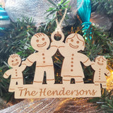 Wood Gingerbread Family Ornament/*1 for $13/2 for $20/3 for $26-