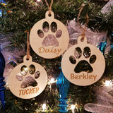Wood Paw Ornament/*1 for $10/2 for $16/3 for $20-