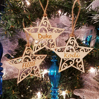 Wood Star Ornament/*1 for $10/2 for $16/3 for $20-