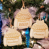 Wood Sweater Ornament/*1 for $11/2 for $17/3 for $22-