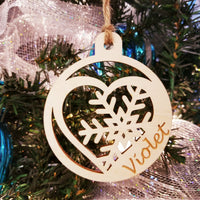 Wood Heart Ornament/*1 for $10/2 for $16/3 for $20-