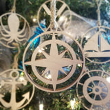 Wood Compass Ornament/*1 for $10/2 for $16/3 for $20-