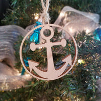 Wood Anchor Ornament/*1 for $10/2 for $16/3 for $20-