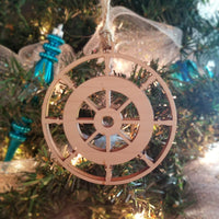Wood Captain's Wheel Ornament/*1 for $10/2 for $16/3 for $20-