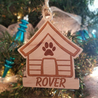 Wood Doghouse Ornament/*1 for $11/2 for $17/3 for $22/SALE! 5 for $25-