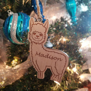 Wood Llama Ornament/*1 for $10/2 for $16/3 for $20-