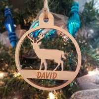 Wood Deer Ornament/*1 for $10/2 for $16/3 for $20-