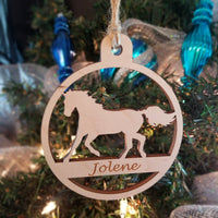 Wood Horse Ornament/*1 for $10/2 for $16/3 for $20-