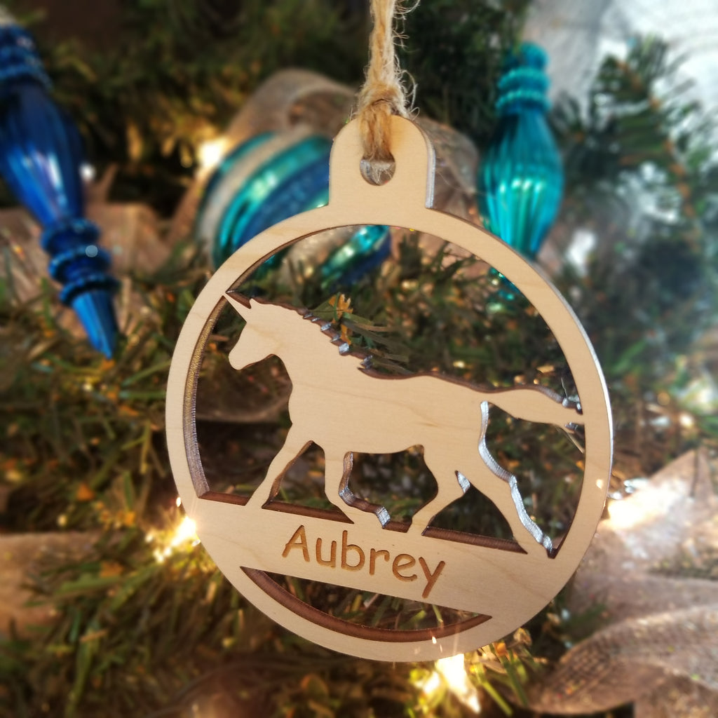 Wood Unicorn Ornament/*1 for $10/2 for $16/3 for $20-
