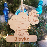 Wood Sheep Ornament/*1 for $10/2 for $16/3 for $20-