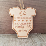 Baby Birth Stats Ornament/Onsie