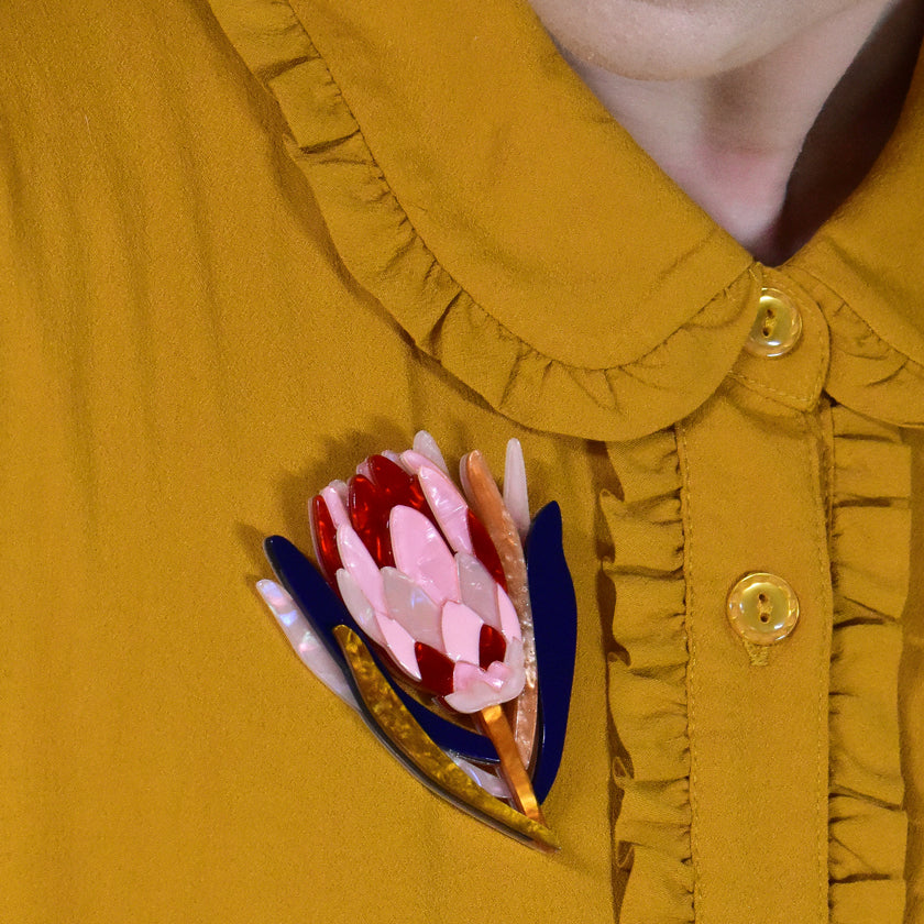Cheer for Protea Brooch