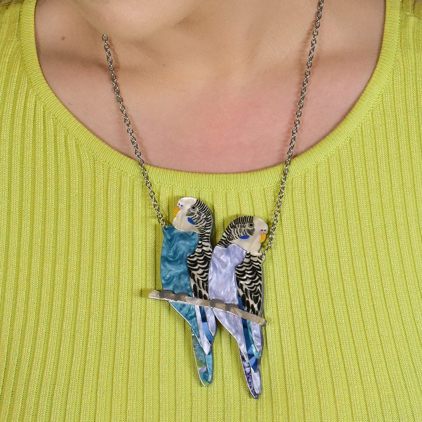 Pair O' Keets Budgies Necklace